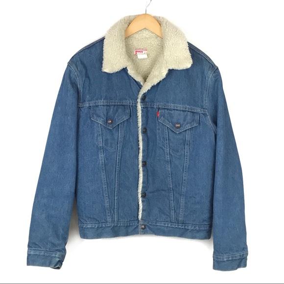 5f0a1f7878d Levi s Other - Vintage Levi s 80s Sherpa Denim Trucker Jacket 44